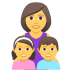 👩‍👧‍👦 family: woman, girl, boy Emoji on Joypixels Platform
