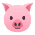 🐷 pig face Emoji on Joypixels Platform