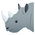 🦏 rhinoceros Emoji on Joypixels Platform
