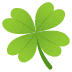 🍀 four leaf clover Emoji on Joypixels Platform