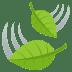 🍃 風になびく葉っぱ JoyPixelsプラットフォーム上の絵文字