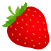 🍓 strawberry Emoji on Joypixels Platform