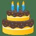 🎂 birthday cake Emoji on Joypixels Platform