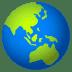 🌏 globe showing Asia-Australia Emoji on Joypixels Platform