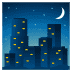 🌃 night with stars Emoji on Joypixels Platform