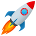 🚀 rocket Emoji on Joypixels Platform