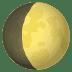 🌔 Waxing Gibbous Moon Emoji on JoyPixels Platform