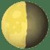 🌗 Last Quarter Moon Emoji on JoyPixels Platform