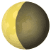 🌘 waning crescent moon Emoji on Joypixels Platform