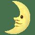 🌛 first quarter moon face Emoji on Joypixels Platform