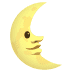 🌜 last quarter moon face Emoji on Joypixels Platform