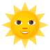 🌞 sun with face Emoji on Joypixels Platform