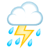 ⛈️ cloud with lightning and rain Emoji on Joypixels Platform