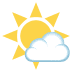🌤️ sun behind small cloud Emoji on Joypixels Platform