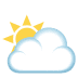 🌥️ sun behind large cloud Emoji on Joypixels Platform