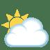 🌥️ Sun Behind Large Cloud Emoji on JoyPixels Platform
