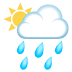 🌦️ Sun Behind Rain Cloud Emoji on JoyPixels Platform