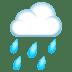 🌧️ cloud with rain Emoji on Joypixels Platform