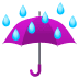 ☔ umbrella with rain drops Emoji on Joypixels Platform