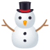 ⛄ snowman without snow Emoji on Joypixels Platform