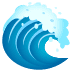 🌊 water wave Emoji on Joypixels Platform
