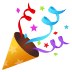 🎉 Party Popper Emoji sa JoyPixels Platform