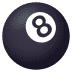 🎱 pool 8 ball Emoji on Joypixels Platform