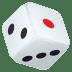 🎲 game die Emoji on Joypixels Platform