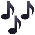 🎶 musical notes Emoji on Joypixels Platform