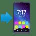 📲 هاتف محمول مع سهم الإيموجي على منصة جوي بيكسيلز
