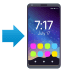 📲 Móvil con flecha Emoji en la plataforma JoyPixels