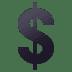 💲 heavy dollar sign Emoji on Joypixels Platform