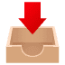 📥 inbox tray Emoji on Joypixels Platform