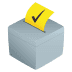 🗳️ ballot box with ballot Emoji on Joypixels Platform