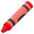 🖍️ crayon Emoji on Joypixels Platform