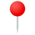 📍 round pushpin Emoji on Joypixels Platform