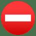 ⛔ no entry Emoji on Joypixels Platform