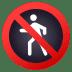 🚷 No Pedestrians Sign Emoji on JoyPixels Platform