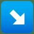 ↘️ down-right arrow Emoji on Joypixels Platform
