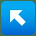↖️ up-left arrow Emoji on Joypixels Platform