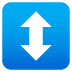 ↕️ up-down arrow Emoji on Joypixels Platform