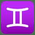 ♊ Gemini Emoji on Joypixels Platform