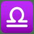♎ Libra Emoji on Joypixels Platform