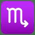 ♏ Scorpio Emoji on Joypixels Platform
