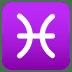 ♓ Pisces Emoji on Joypixels Platform