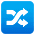 🔀 shuffle tracks button Emoji on Joypixels Platform