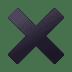 ✖️ multiplication sign Emoji on Joypixels Platform