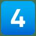 4️⃣ keycap: 4 Emoji on Joypixels Platform
