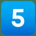 5️⃣ keycap: 5 Emoji on Joypixels Platform