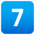7️⃣ keycap: 7 Emoji on Joypixels Platform